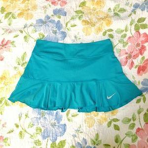 Nike, Like-NEW, teal dri-fit skorts, pleated skirt